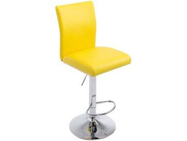 CLP Tabouret de bar KÖLN similicuir, jaune CLP  jaune