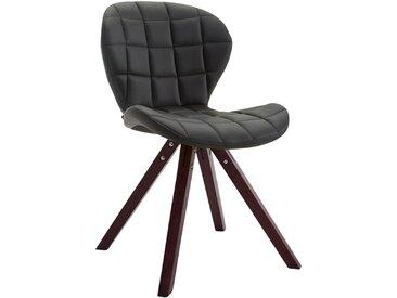 CLP Chaise visiteur Alyssa similicuir piètement carré, noir CLP  noir