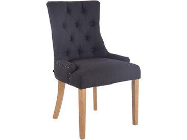 Timwood Experience Chaise de salle à manger ABERDEEN tissu, noir CLP  noir