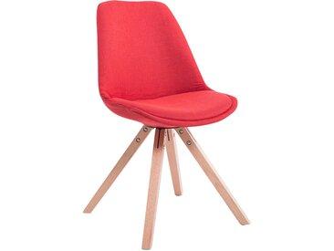 CLP Chaise Toulouse tissu piétement en forme carrée, rouge CLP  rouge
