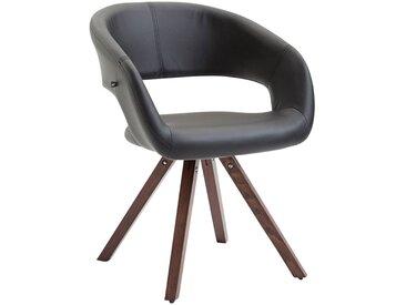 CLP Chaise de salle à manger Suez similicuir, noir CLP  noir