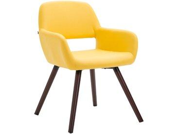 CLP Chaise de salle à manger Bobby similicuir nature, jaune CLP  jaune