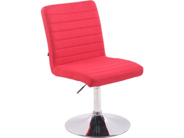 CLP Chaise de salle à manger Elva tissu, rouge CLP  rouge