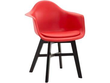 CLP Chaise visiteur Calgary similicuir piètement, rouge CLP  rouge