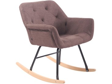 CLP Chaise bascule Cabot tissu, marron CLP  marron