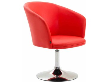 CLP Chaise Lounge Arcade Similicuir, rouge CLP  rouge
