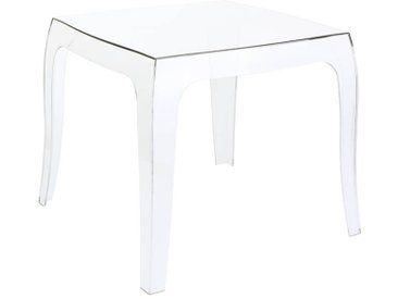 CLP Table d'appoint Queen 50 x 50 cm, transparent CLP  transparent