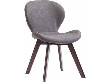 Timwood Experience Chaise de salle à manger Fitz tissu, gris foncé CLP  gris foncé
