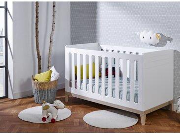 Lit bébé évolutif VOLT – Blanc/Hêtre