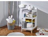 Table à langer bébé VOLT – Blanc/Hêtre