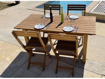 Table de jardin en bois massif MOOREA