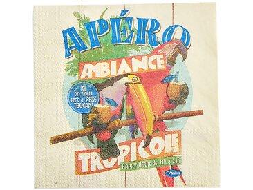 Serviettes en papier 3 plis x20 tropicole - Natives