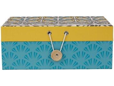 Boîte à bijoux avec miroir Jaune, Bleu en Carton - SEMA Design