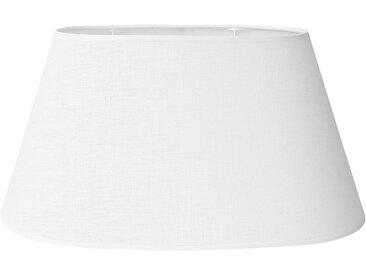 Abat-jour ovale blanc en lin - Côté Table