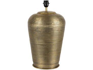 Pied lampe capri dore antique d30xh50cm-e27-cable 2.50m aluminium - Côté Table