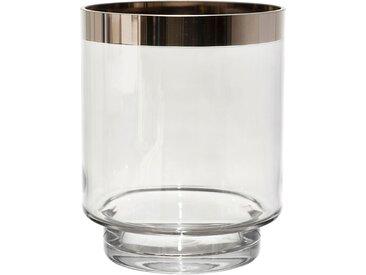 Photophore agna platine d14xh17cm verre - Côté Table