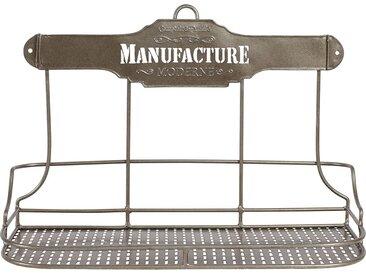 Etagère 3 bocaux manufacture grise en fer - Comptoir de Famille