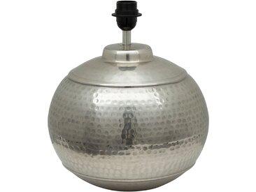 Pied lampe padma gris argente d30xh35cm-e27-cable 2.50m aluminium - Côté Table