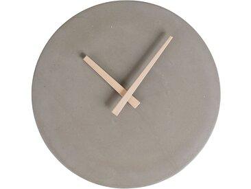 Pendule time gris clair d27x4cm ciment - Jardin d'Ulysse