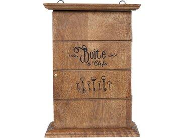Boîte à clés tradition naturel en manguier - Comptoir de Famille