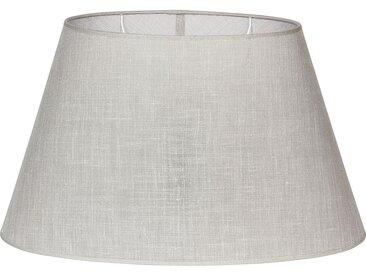 Abat-jour ovale couleur lin en lin et polyester - Côté Table