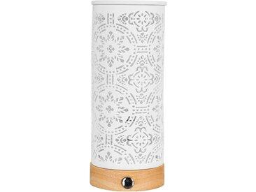 Lampe bois blanche en porcelaine et bois - SEMA Design