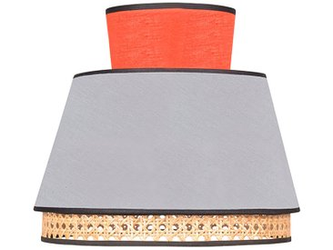 Abat-jour singapour gris clair/tomette d30xh23cm - Market Set