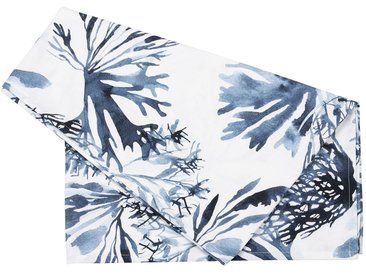 Chemin table bay blanc et bleu - Côté Table