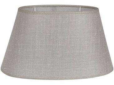Abat-jour ovale en lin et polyester - Côté Table