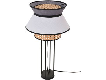 Lampe singapour blanc/anthracite d30xh56cm - Market Set