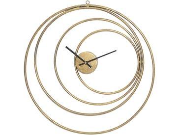 Horloge elyptic dore d49.5cm fer - Côté Table