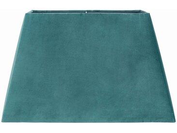 Abat-jour rectangle Bleu Canard en Velours polyester - Côté Table