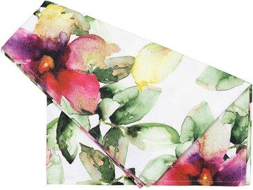 Chemin table floreale rose et vert - Côté Table