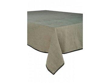 Chemin de table letia kaki 50x145cm 100% lin lavé - Harmony