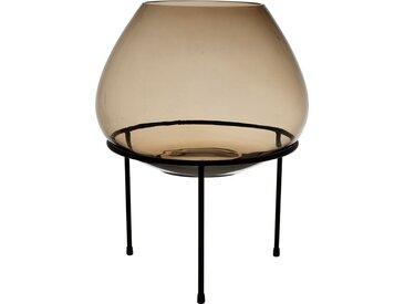 Photophore sur pied agna brun d32xh25cm verre - Côté Table