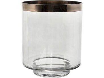 Photophore agna platine d22xh26cm verre - Côté Table