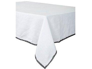 Serviette de table letia blanc 41x41cm 100% lin lavé - Harmony