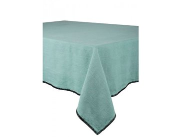 Chemin de table letia celadon 50x145cm 100% lin lavé - Harmony