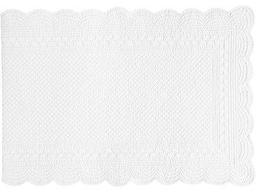 Chemin de table boutis blanc en coton - Côté Table