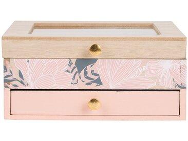 Boîte à bijoux  akasya Rose Poudre en Mdf, Verre - SEMA Design