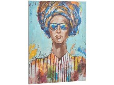 Toile 90x120 cm FEMME LUNETTES Multicolore
