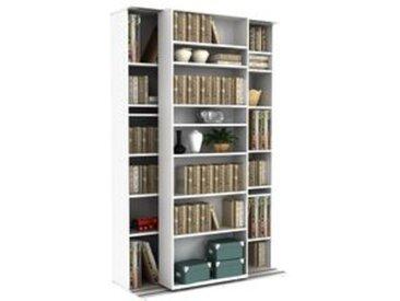 Bibliothèque coulissante à étagères modulables BENTO blanc