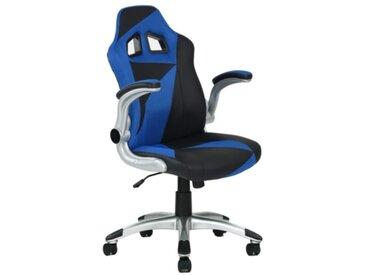 Fauteuil de bureau Gamer DUO Bleu et noir