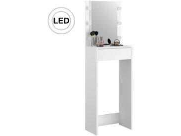 Coiffeuse haute avec LED RUBI blanc