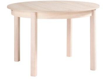 Table ronde + allonge RUBEN Hêtre blanchi