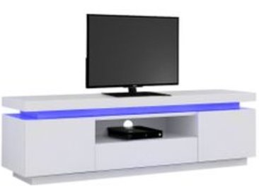 Meuble TV LED LUCIE Blanc