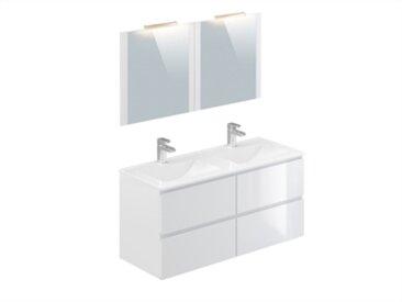 Meuble de salle de bain 120 cm FIDJI Blanc