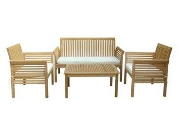 Salon jardin canapé+fauteuil JASMINE 2 Acacia