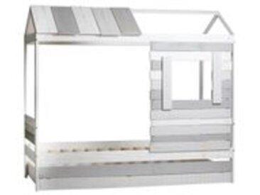 Lit cabane 90x190 cm SIA 2 Gris et blanc