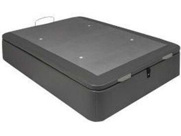 Sommier coffre 160x200 cm SIGNATURE LENNY PU gris